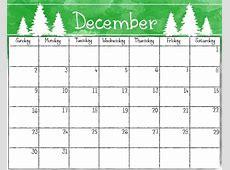 Cute December Calendar For 2018 – Printable Calendar 2018