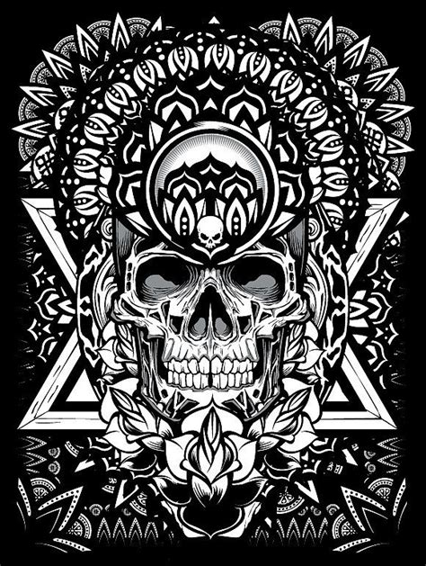 Mandala Exploration by Joshua M. Smith | Tattoo design drawings, Skull art, Skull tattoos