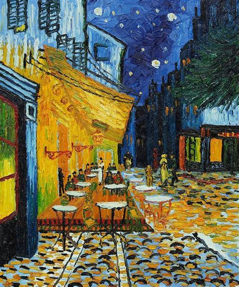gogh cafe terrace at description of the painting cafe terrace at by