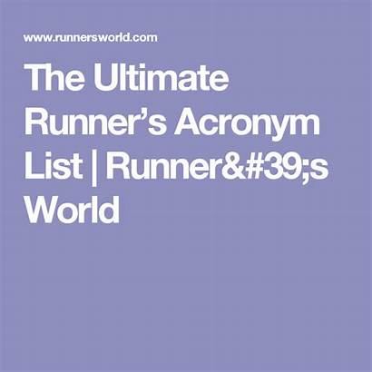 Acronym Maine Runner Ultimate Runnersworld Acronyms