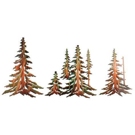 Pine Tree Metal Wall Art (3 pcs)