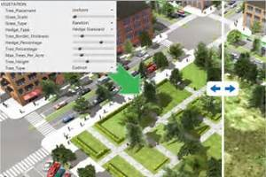 Geodesign improves urban planning by visualizing different