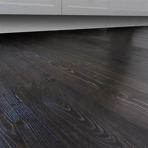 Stain espresso timber baltic pine finish bona traffic for Pine floors stained dark