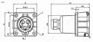 Sae J1772 Inlet  Socket 32a Ev Charging In Sae J1772