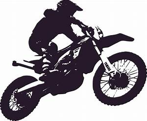 Clipart - Motorbike Enduro Silhouette