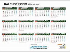 Template Kalender 2019 CDR Lengkap GRATIS! Nrechelcom