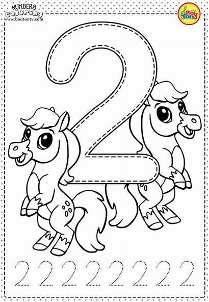 Number Coloring Numbers Worksheets Preschool Learning Printables