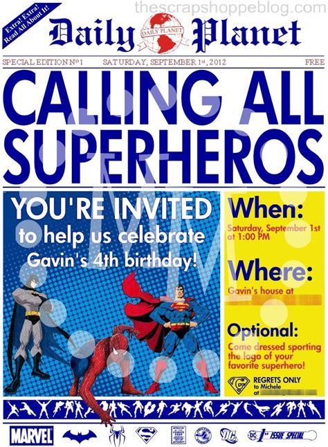 Superhero Birthday Invitations Templates Free Unique Template
