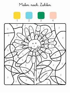 Buchstaben Basteln Vorlagen : ausmalbild malen nach zahlen sonnenblume ausmalen ~ Lizthompson.info Haus und Dekorationen