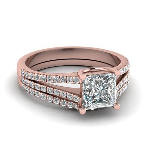 princess cut black ring princess cut split shank wedding ring set in 14k