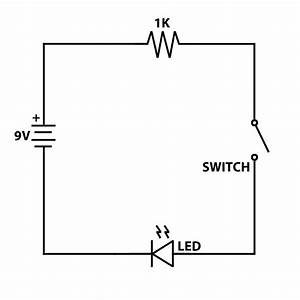 Simple 9v Led And Switch Circuit