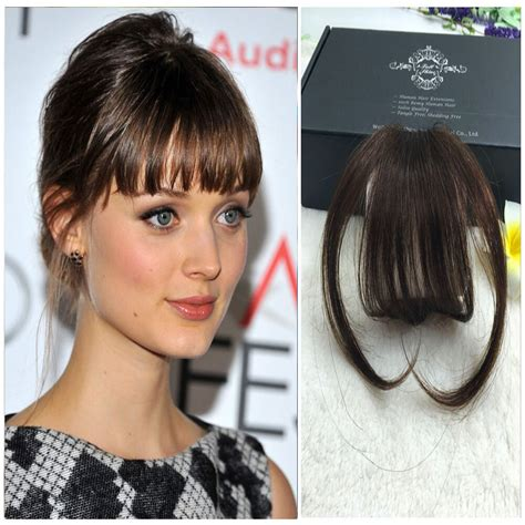 Clip In Front Closure Bangs Fringe Straight 100 Remi