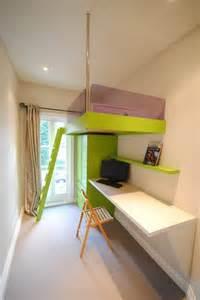 narrow  small kids room shelf desk home decorating