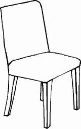 Chair Coloring Colouring Clipart Pages Furniture Child 05kb Designlooter Pencil 900px Webstockreview sketch template