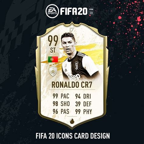 fifa  icons card design daninho  images