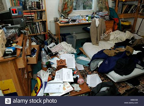 Extremely Messy Room Of A Teenage Stock Photo, Royalty
