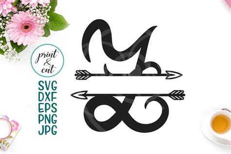 monogram letter  svg graphic  cornelia creative fabrica