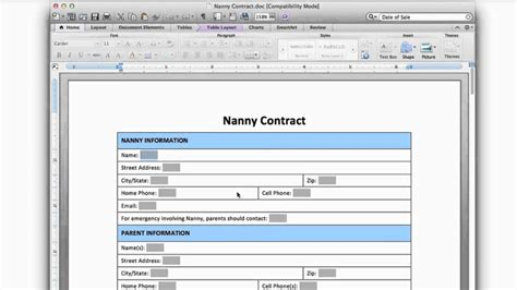 nanny contract overview youtube