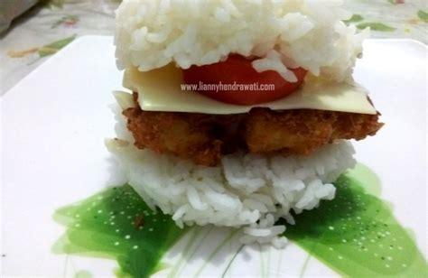 bulat burger burger nasi untuk bekal sekolah anak lianny