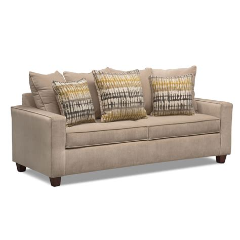 Bryden Sofa Beige Value City Furniture And Mattresses