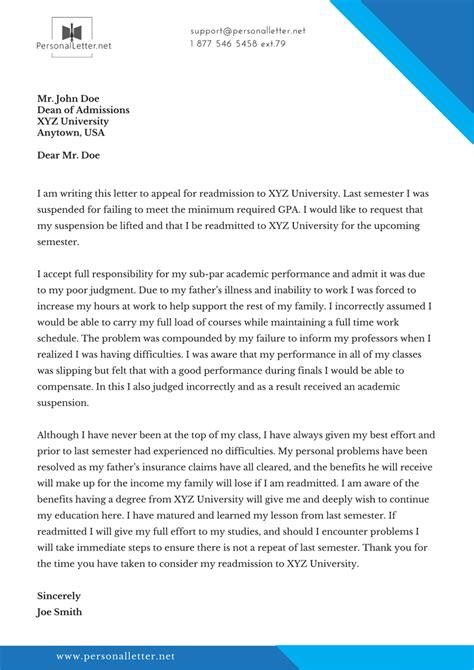 writing  letter  appeal   university   write