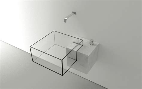 Minimalist Bathroom Sink With An Almost Surreal Appearance