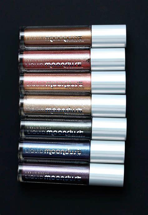 urban decay liquid moondust eyeshadow makeup  beauty blog