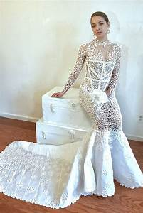 this unbelievable wedding dress is made out of toilet With toilet paper wedding dress 2017