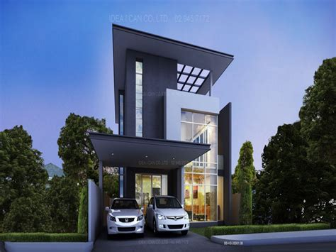 house plans for narrow lots modern two house plans middle class modern two