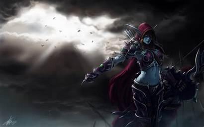 Lady Dark Blizzard Sylvanas Wow Fanart Warcraft
