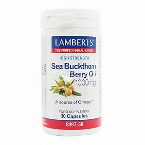 Lamberts Sea Buckthorn Berry Oil 1000mg 30 Capsules