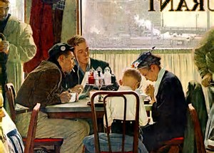 Image result for images norman rockwell saying grace