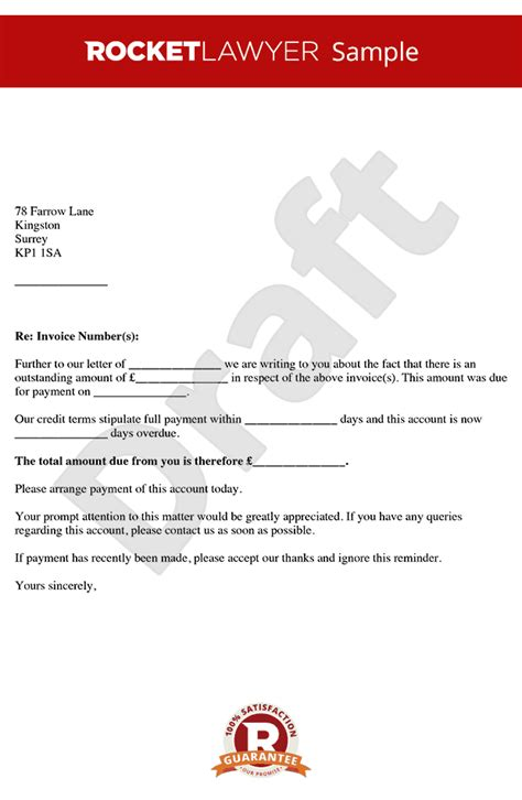 late payment letter  payment reminder letter