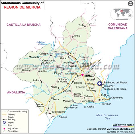 Murcia Map and Murcia Satellite Image