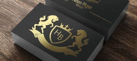 foil business cards gold silver copper stamped
