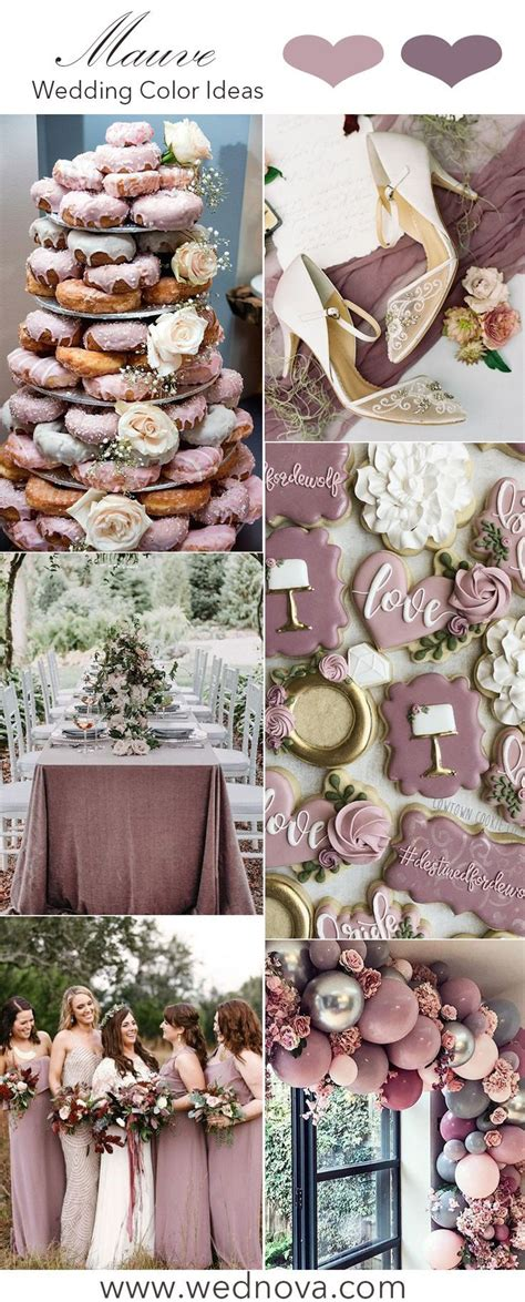 The hottest 10 purple wedding color palettes for all