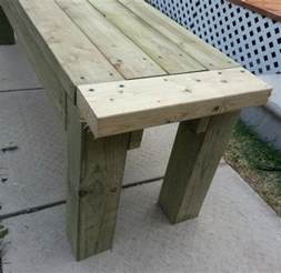 Building A Deck Bench by How To Build A Simple Patio Deck Bench Out Of Wood Step By
