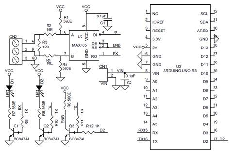 rs shield  arduino uno schematic  pcb layout