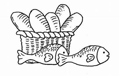 Jesus Coloring Feeding Loaves Fish 5000 Feeds