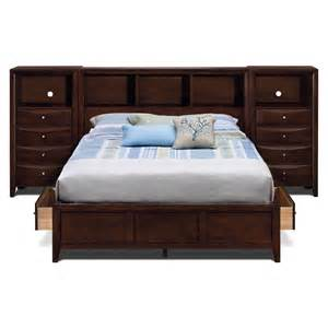 Value City Furniture Headboards by Kensington King Wall Bed With Piers Furniture Com
