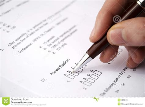 Make A Test Exam Stock Image. Image Of Form, Answer