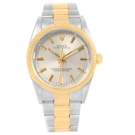 rolex oyster perpetual steel  yellow gold mens