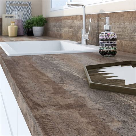 carrelage plan de travail cuisine leroy merlin plan de travail stratifié vintage wood mat l 315 x p