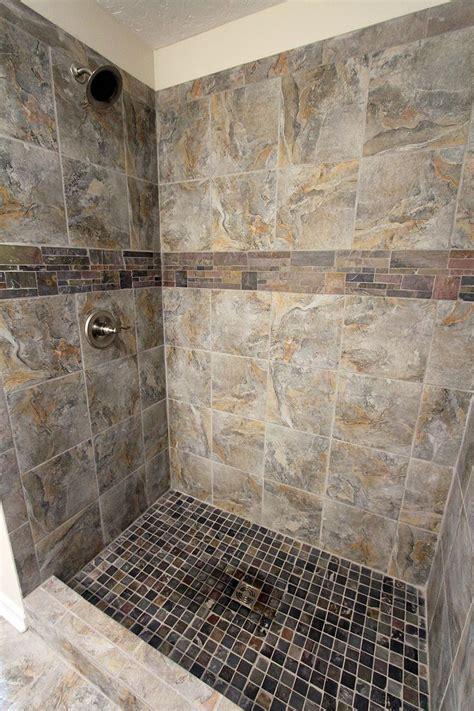 Romina Gray Tile Shower Gray Shower Tile Grey Tiles