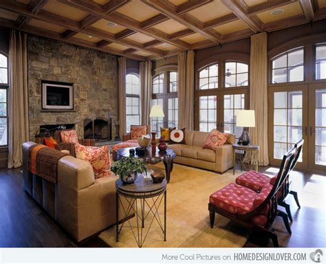 15 relaxing brown and tan living room designs living