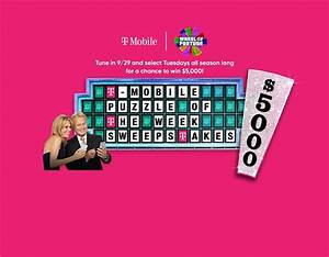 What Was The Wheel Of Fortune T Mobile Puzzle Of The Week
