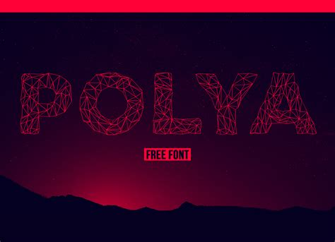 best web font polya free low poly inspired font