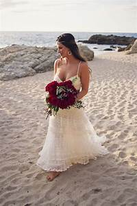red and blue beautiful beach wedding in mexico the With mexican beach wedding dresses