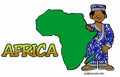 Africa African Clip Clipart Tribe Clips Map