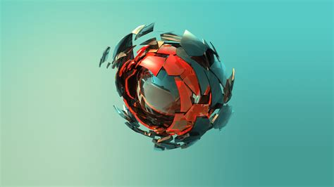 wallpaper sphere  red green hd abstract